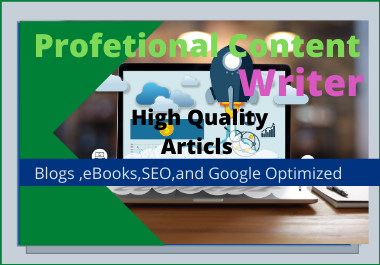 Article Writing,  Content Writing,  Blog Writing in any Topic for 2000-3000 words for