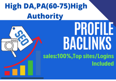 I will do 200 High Authority DA50-100 SEO profile backlinks Manually
