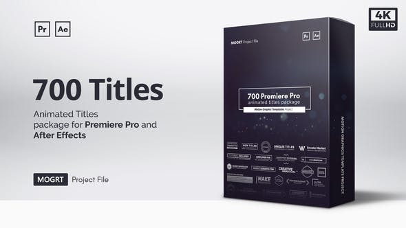 700 Animated Titles All are unique