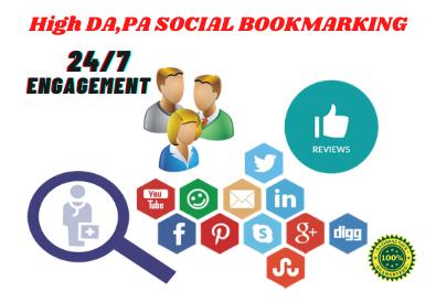 I will do 50 do follow Social Bookmarking SEO Linkbuilding Manually from high DA, PA Sites