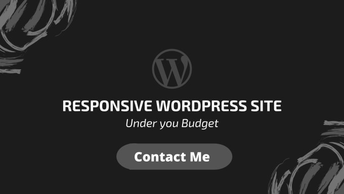 I will build a responsive WordPress site from scratch