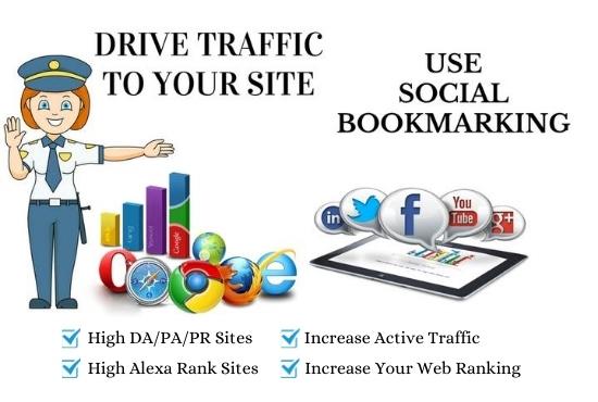 I will do 200 social bookmarking on high PR backlinks