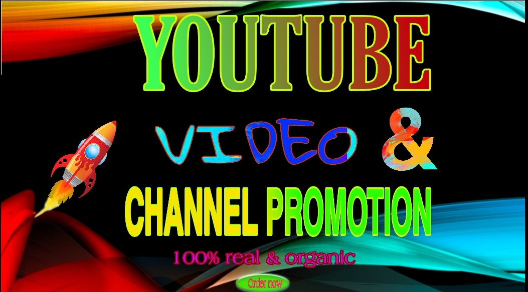 I will do organic HQ video and channel promotion very fast instantly 24 houres delivery