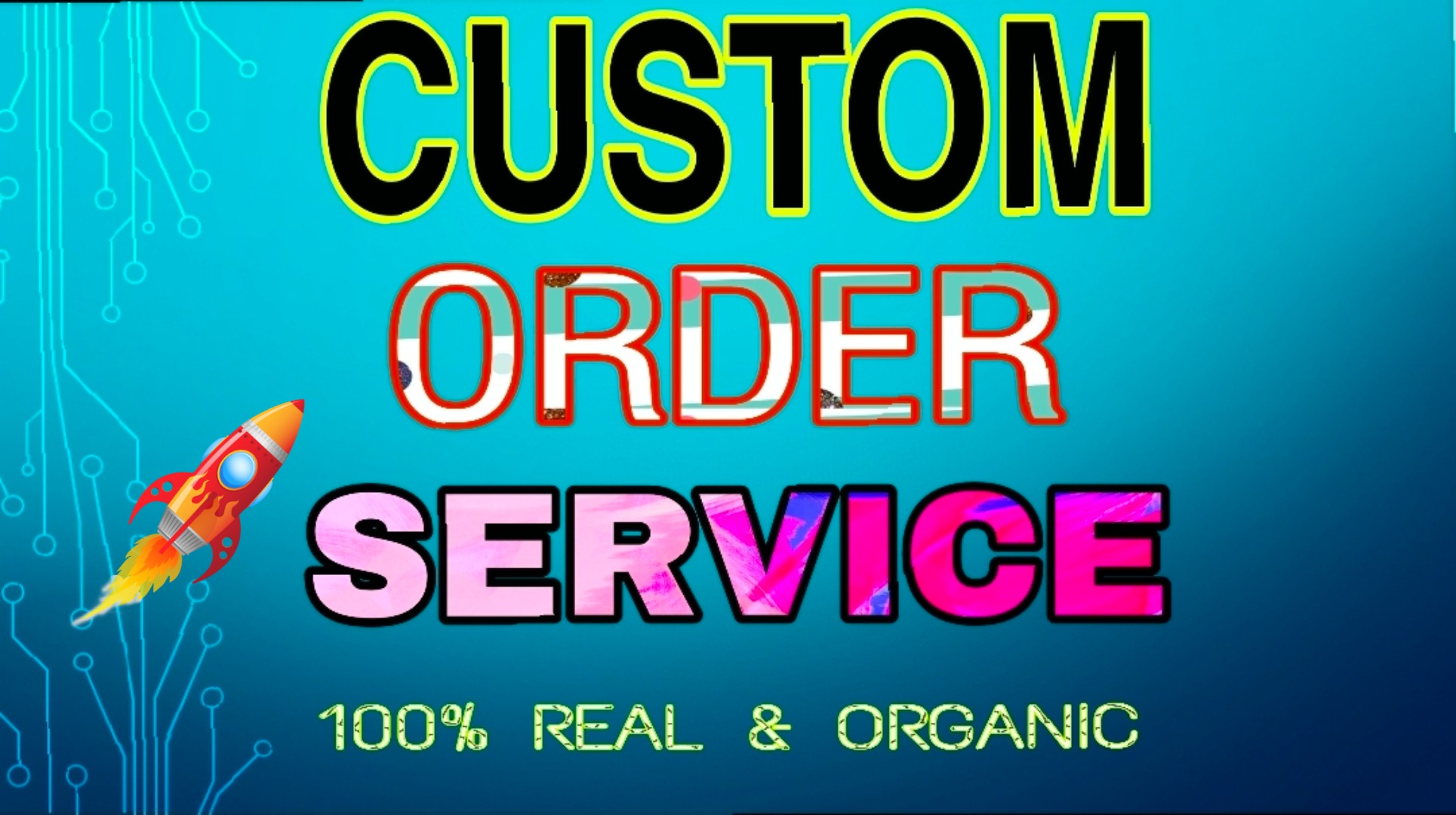 Custom Order Instantly Start work in 24 hours