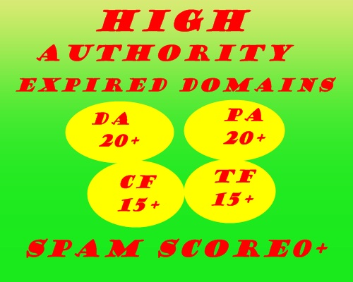 I will research 20 high quality expired domain with powerful metrics