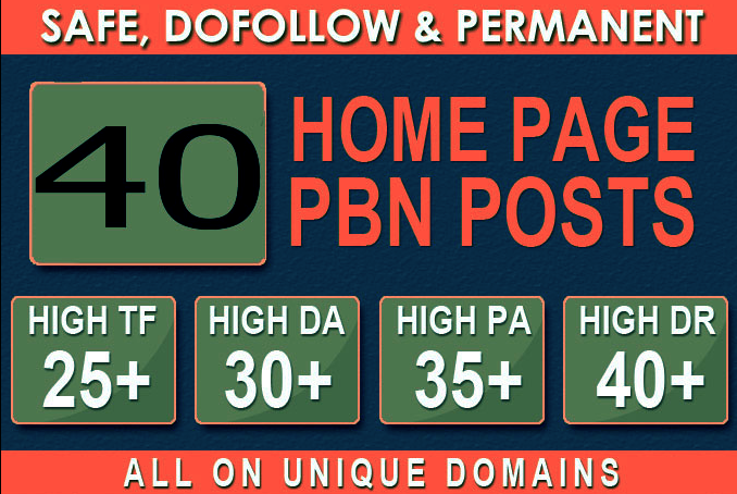Manufacture 40+ Backlink with 30+ Da 35+ PA DOFOLLOW and Homepage pbn with 40+ special websile conne