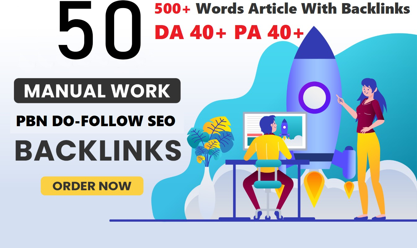 Construct 50+ Baclink,  web 2.0 and Dofollow with high DA/PA in your page with remarkable site