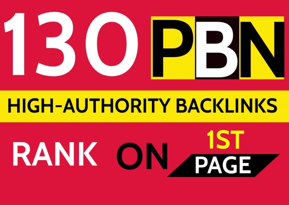 130 Permanent PBN DR 52 High Authority Homepage Do-follow Backlinks - Highly Recommended