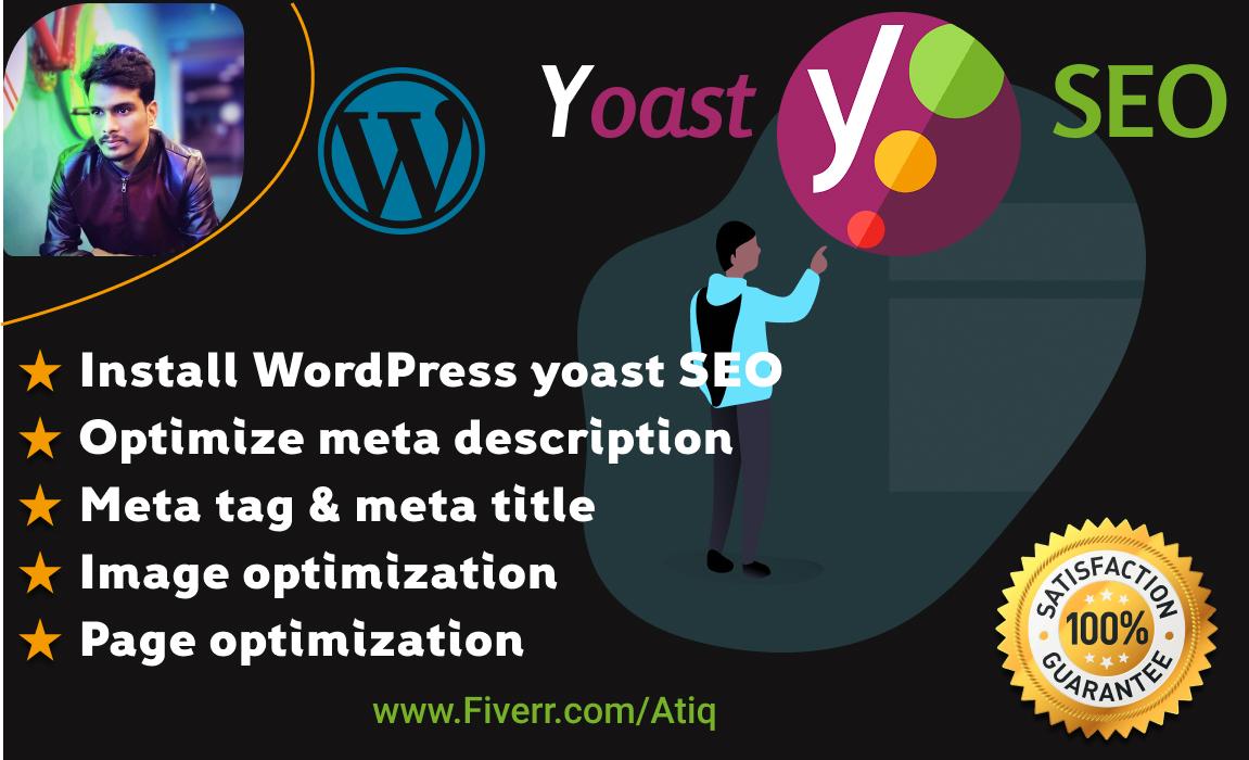 Do WordPress on-page SEO optimization by YOAST