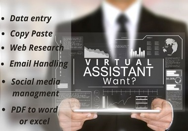 I will be your virtual assistant for any kinds of tasks
