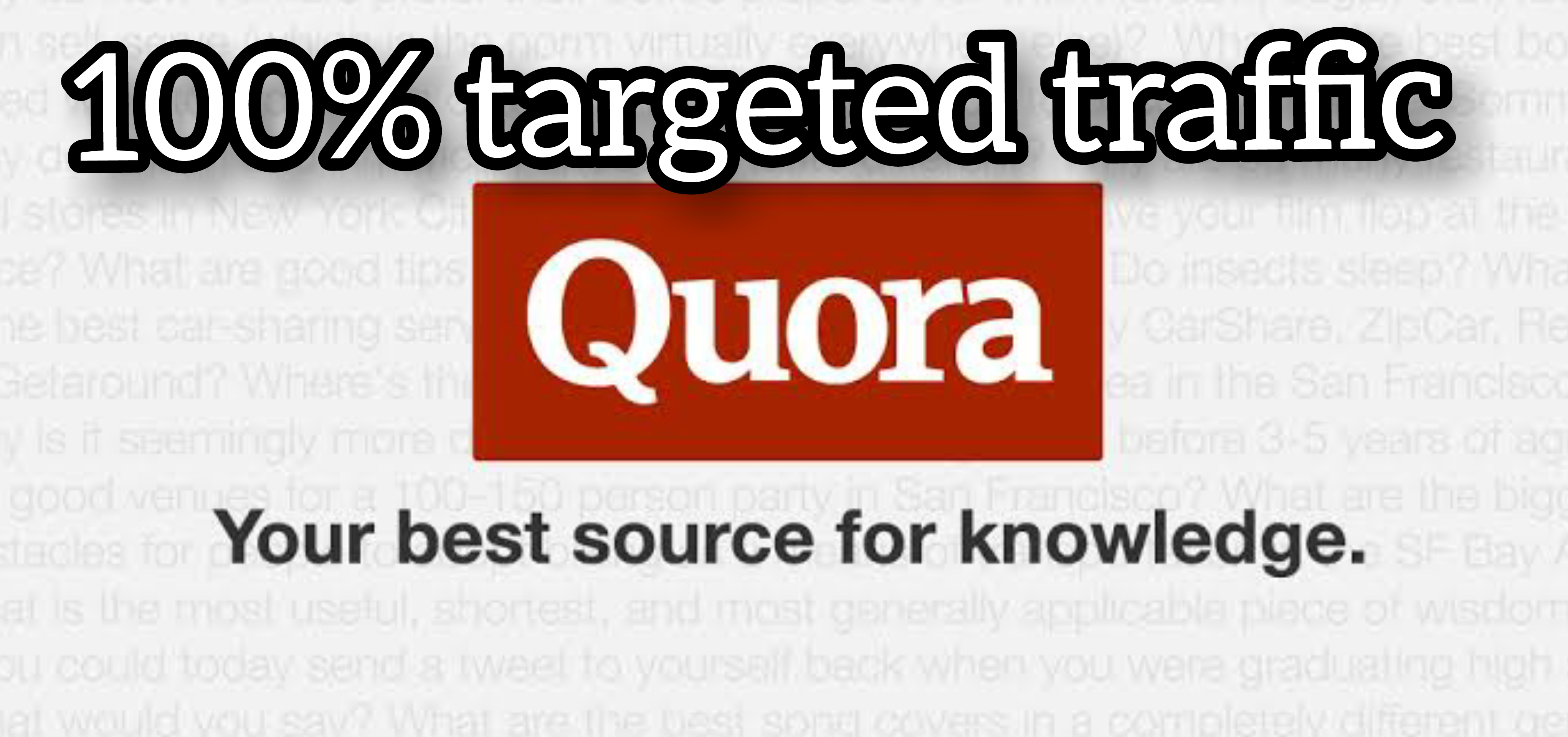 I will do high quality 5 Quora Answer with URL and Keyword