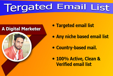 I will collece your niche targeted active email list for your email marketing