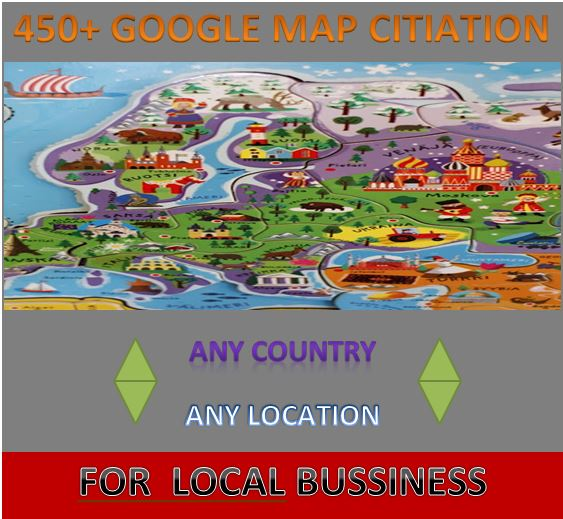 i will provide 450+ google map citiation for local seo bussiness with any country any location