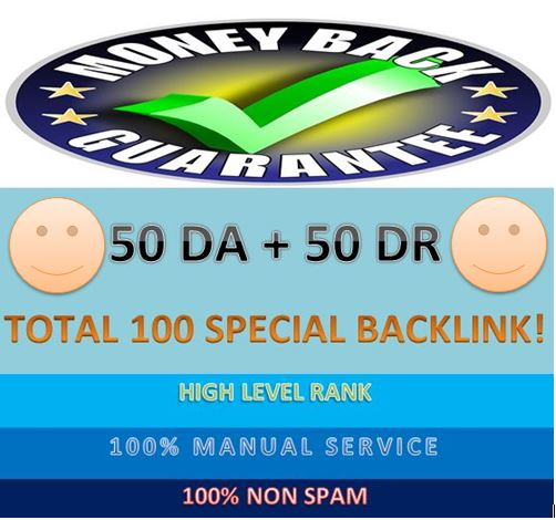 I will build DA50 & 50DR total 100 special backlink with DA & DR 80-100 for your website rank.