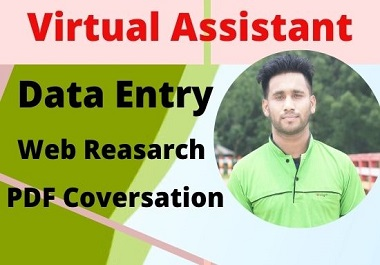 I will be your best Virtual Assistant for your any work