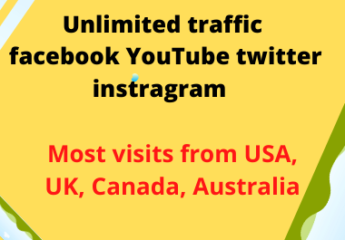 I will be unlimited traffic Google Twitter YouTube and many more to web site for 3 days give you