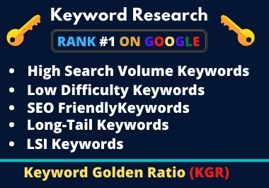 I will do Profitable SEO Keyword Research & Competitor Analysis For Top Google Ranking.