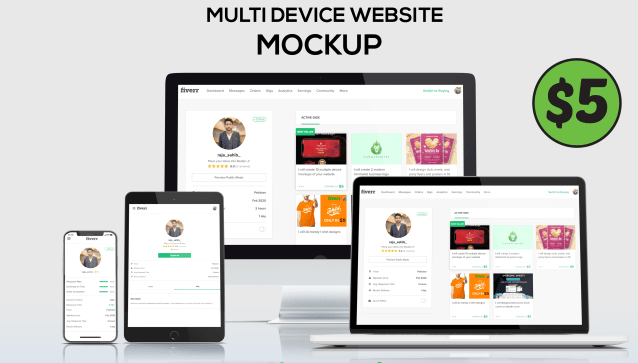 I will design creative website mockup