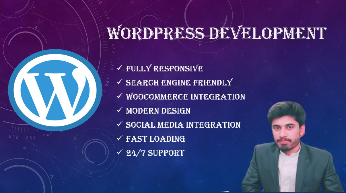 I will do WordPress website design or WordPress customization
