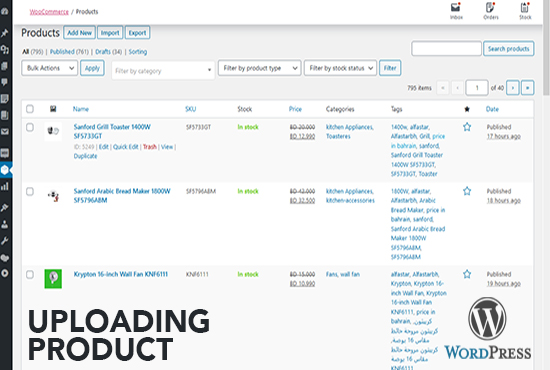 I will do 25 wordpress woocommerce product upload and product listing