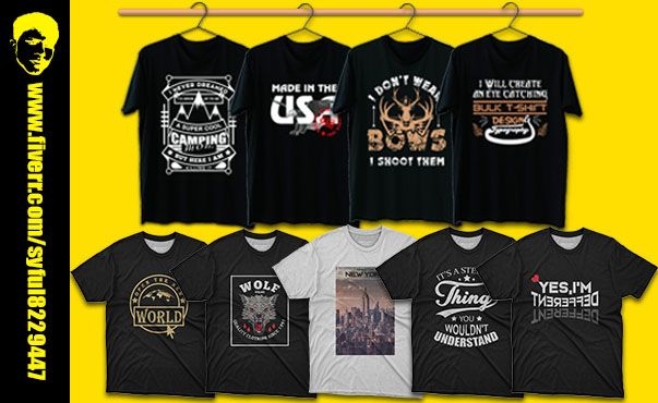 I will design professional graphic and typography 2 Tshirt design