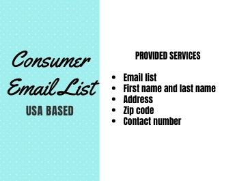 I will provide USA consumer email list