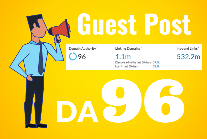 I will 5 guest posts on da 96 blogsite