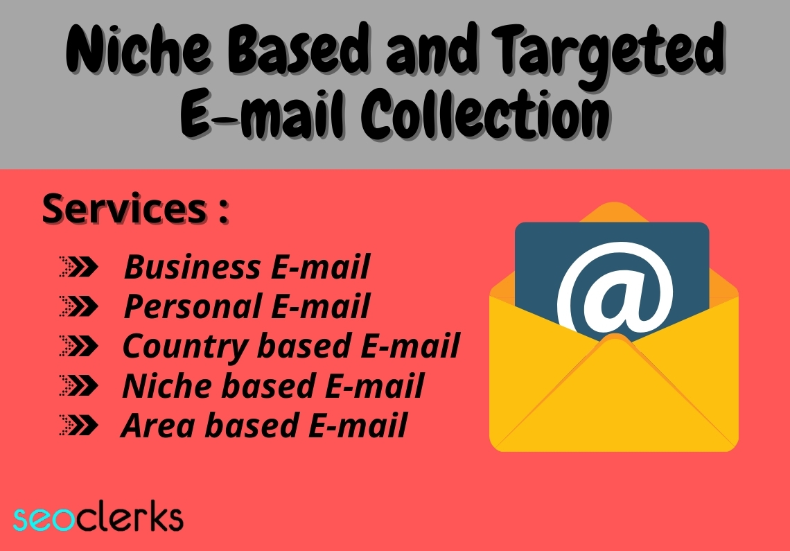 I will collect niche based and targeted 1500 Emails