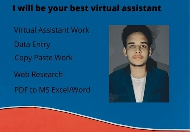 I will be your best virtual assistant for online and offline