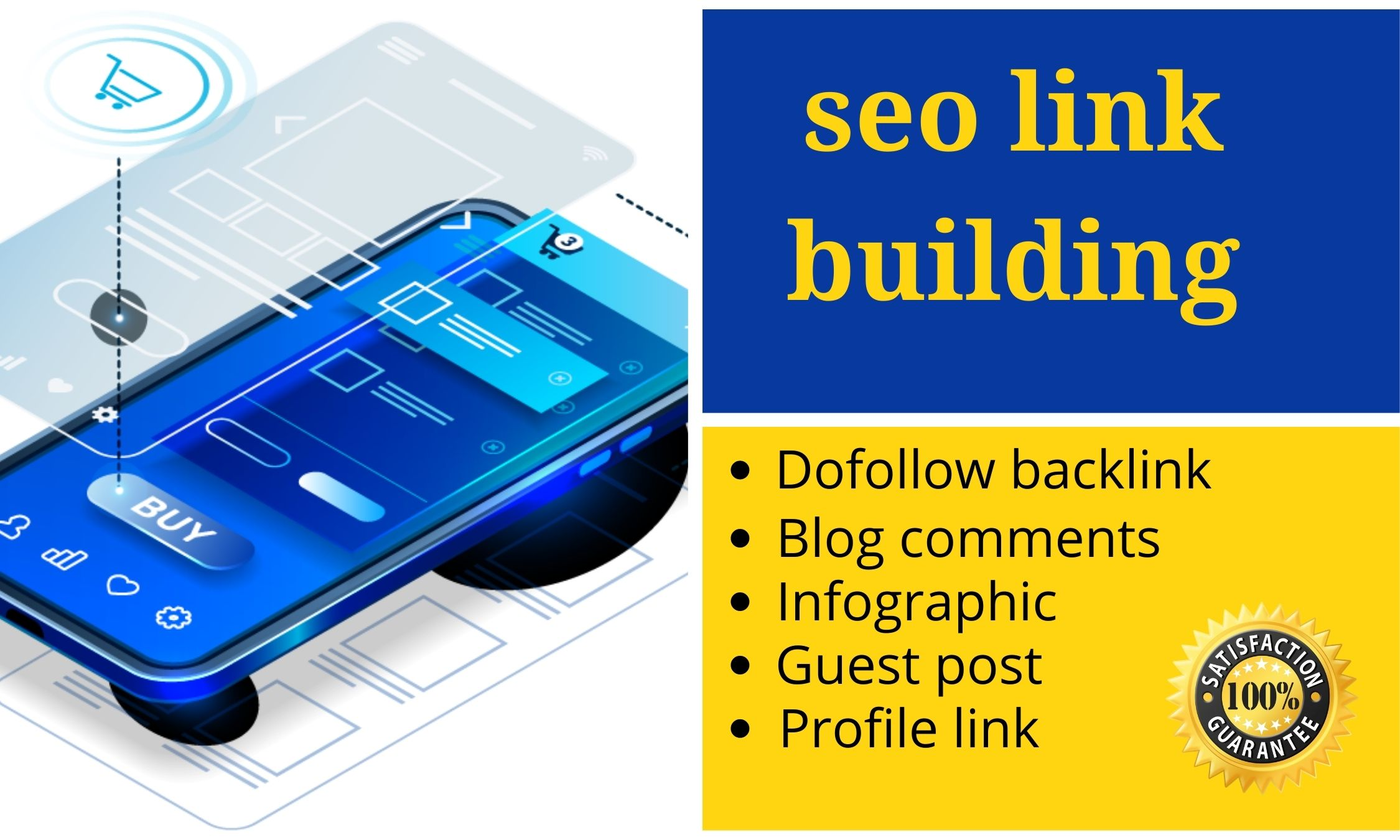 I will provide Excellent SEO link building do follow backlinks high DA website ranking in google top