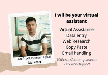 I wii be your best virtual assistant for any work
