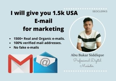 I will give you 1.5k USA E-mail for marketing