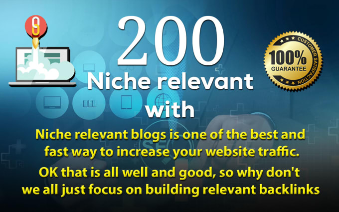 I Will do 200 niche relevant blog comment