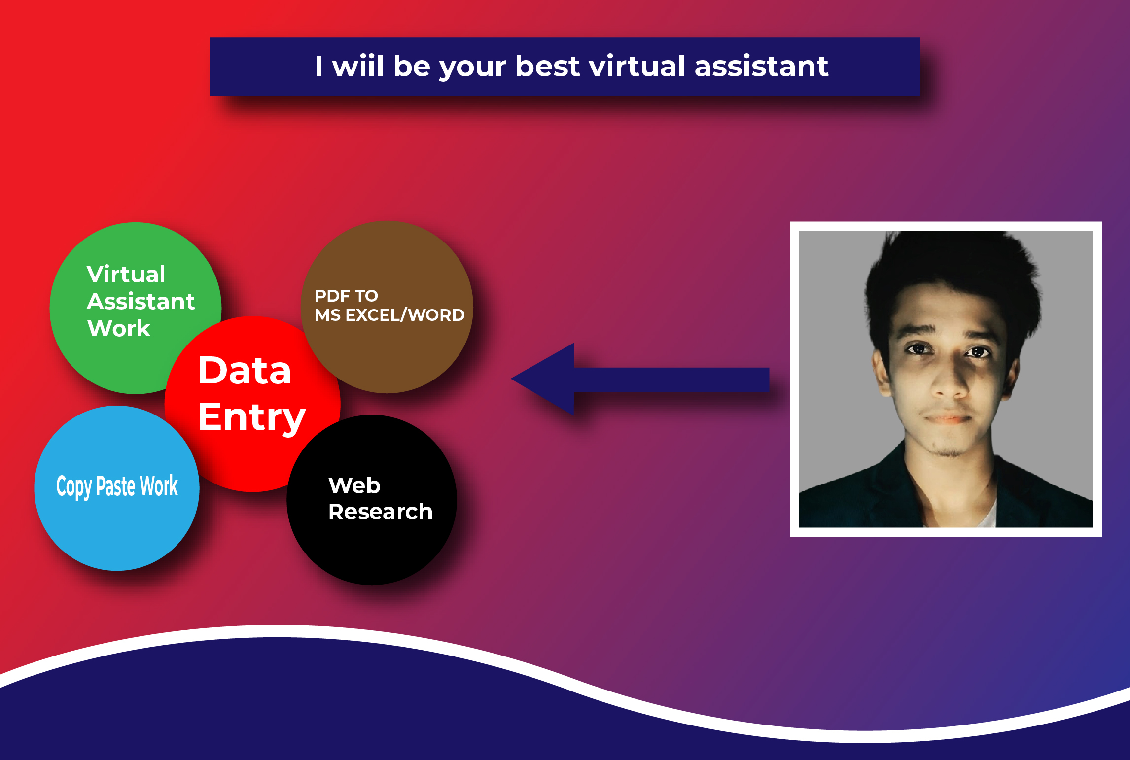 I will be your virtual assistant for any kind of task