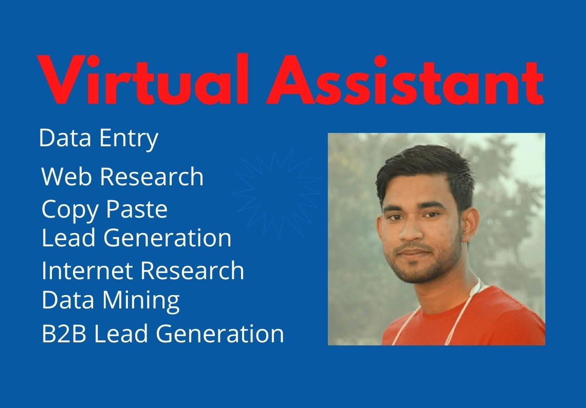 I will be your Virtual Assistant for any kind of works