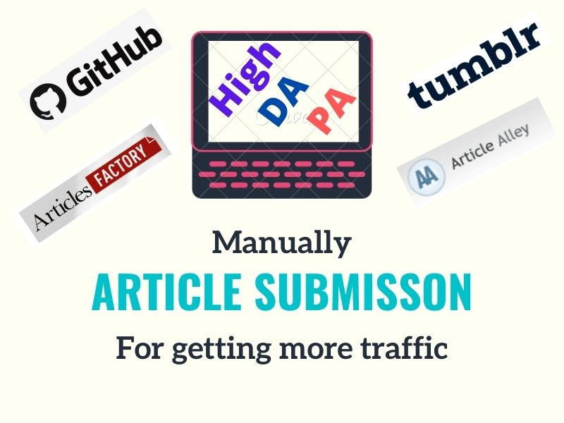 I do article or pdf submisson manually on 25 high DA and PA site