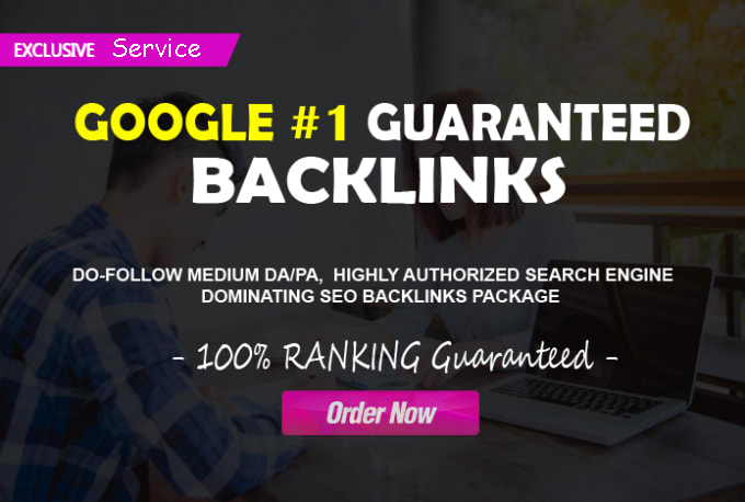 first page google ranking high authorized seo backlinks