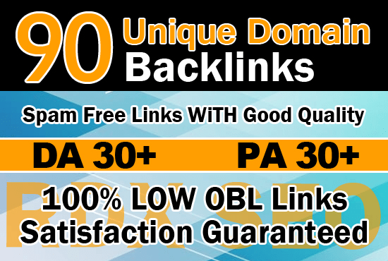 I will do 90 unique domain blog comment backlinks on high da