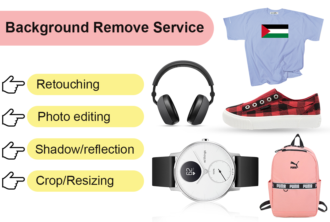 I will do background removal,  resize and photo retouch 5 images