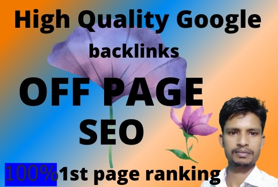 I will provide Google 1st page ranking with off page SEO with guaranteed high quality back link