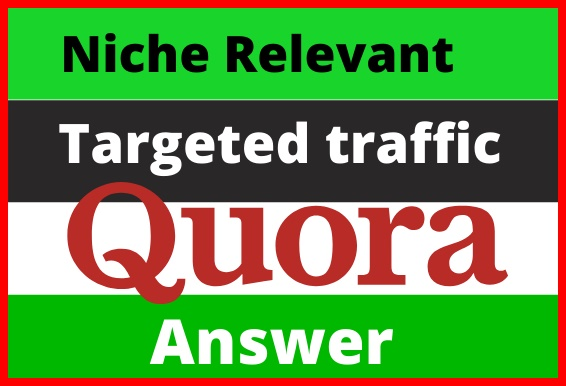Guaranteed targeted traffic with 50 Quora answer's backlinks