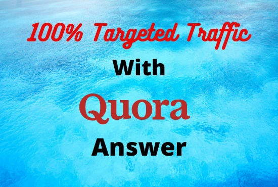 Great offer Great offer Targeted 30 Quora answer