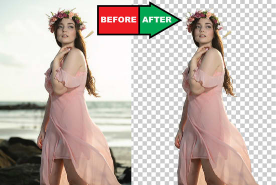 i will do Five photos background removal