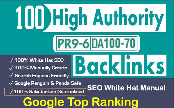 I will high quality pr authority da off page SEO dofollow backlinks service google rank