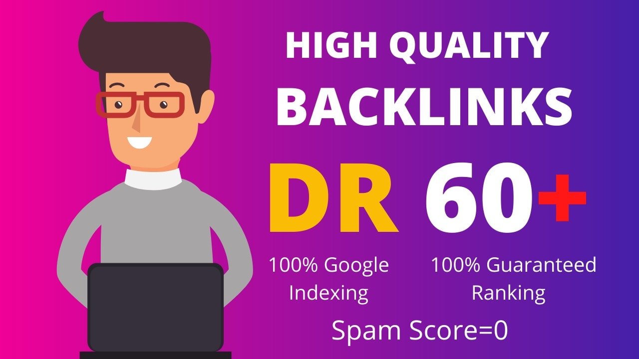 I will do dr 50 to 60 homepage backlinks for off page seo.
