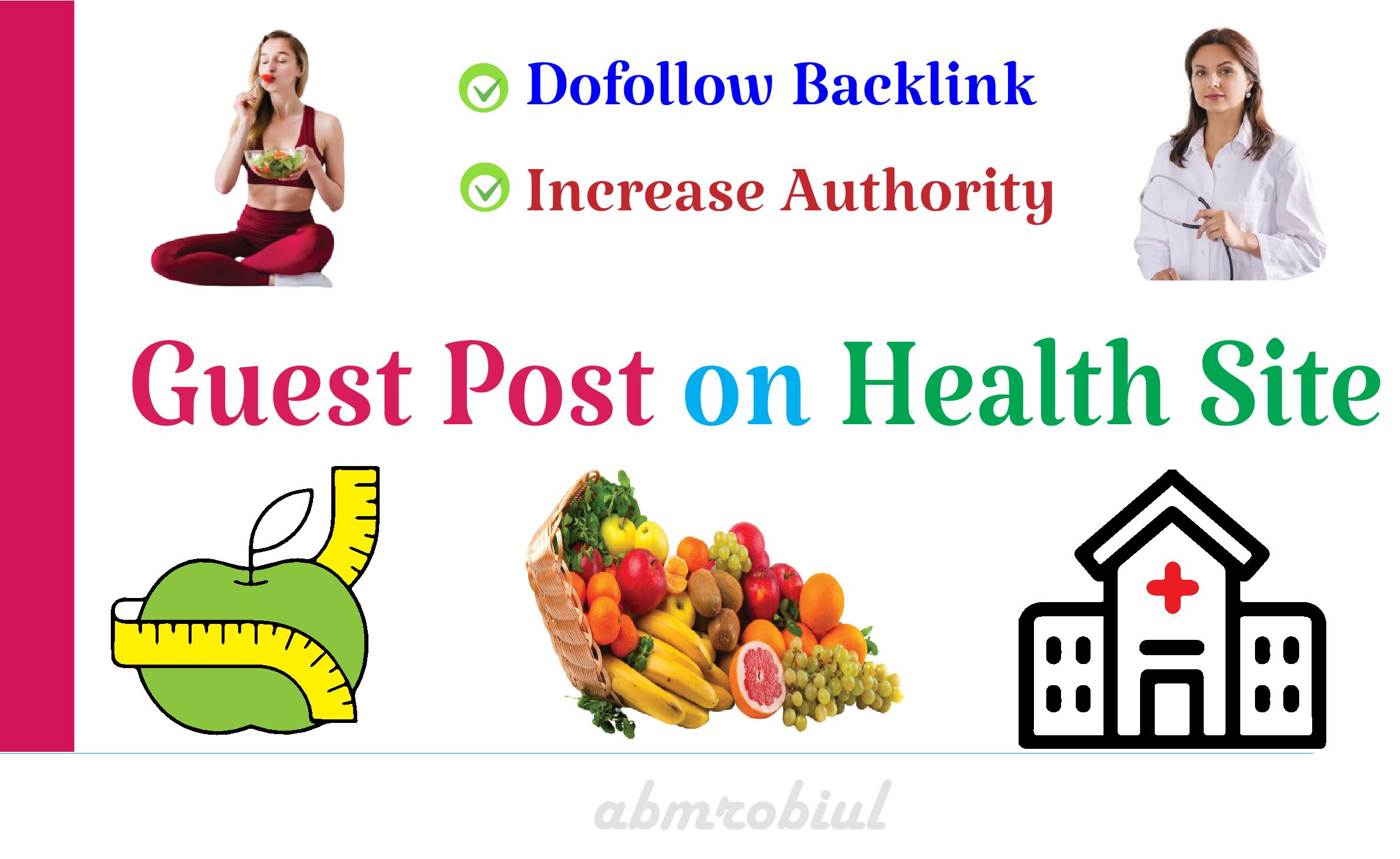 I will publish guest post on health site