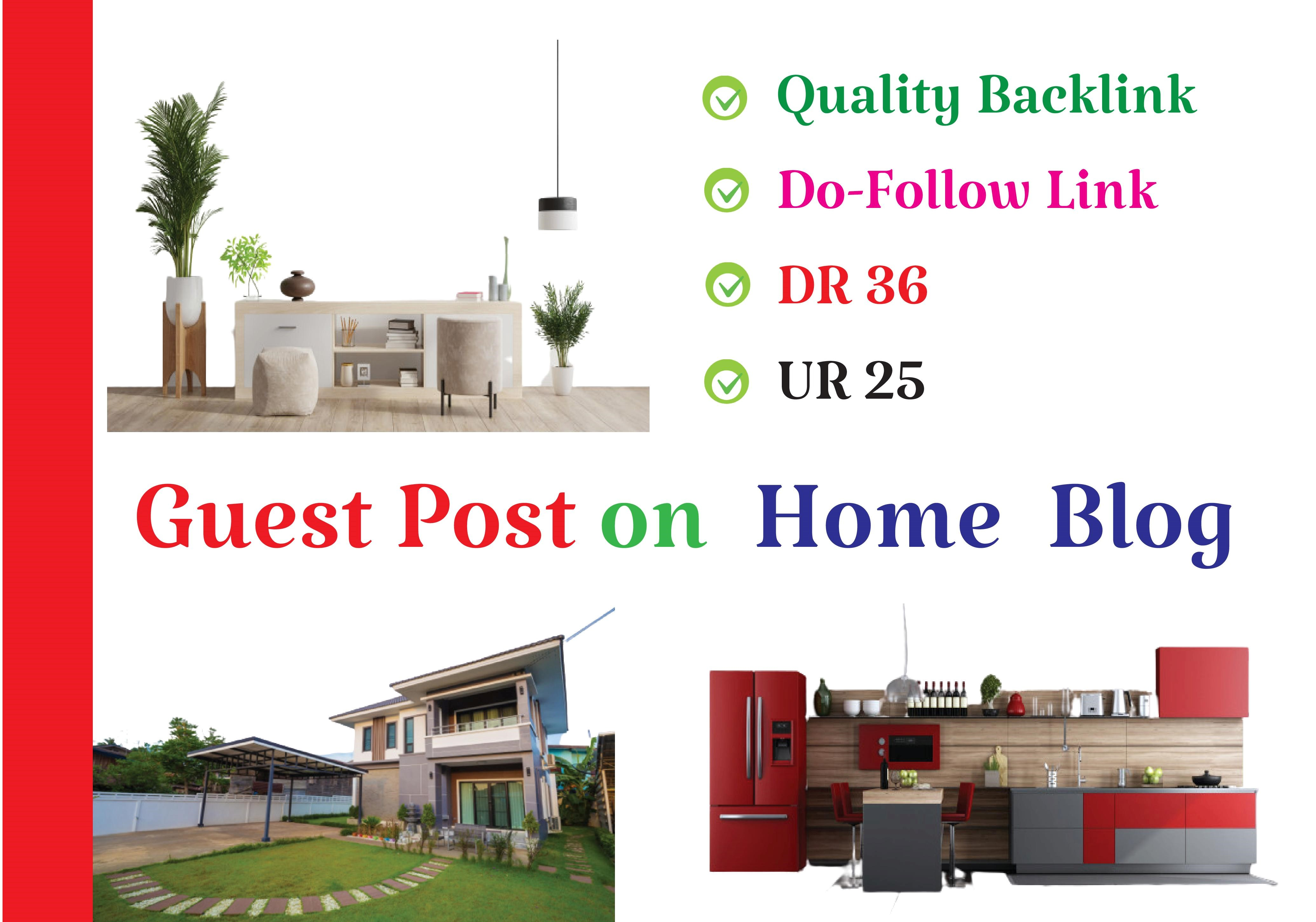 I will do guest post on home improvement blog