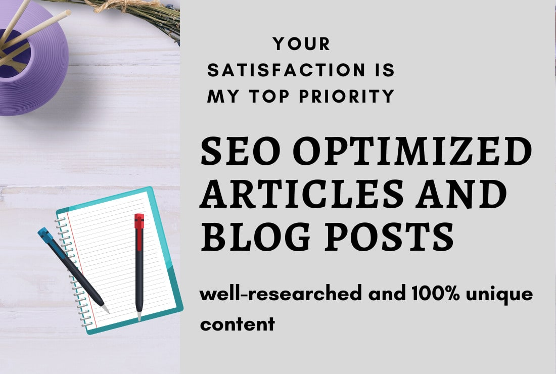 I will write 1000 words perfect SEO optimized article and blog for you in 5