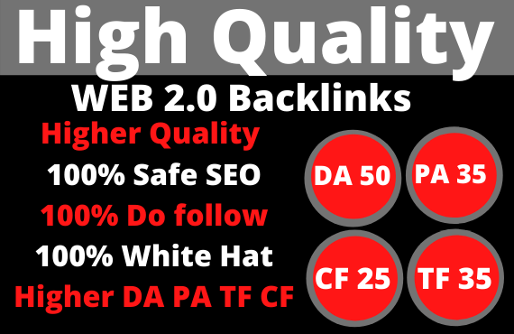Build 200 PBN Web 2.0 Backlinks on high authority unique sites to Rank on google