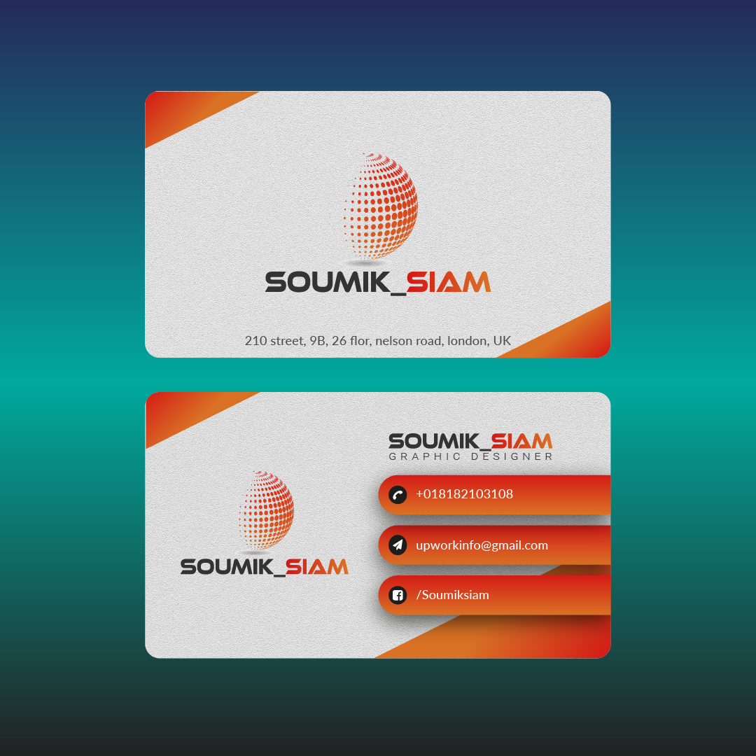 I will make a professional business card design